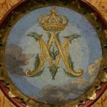 Detal ołtarza św. Wacława – mozaika. Stan po konserwacji.