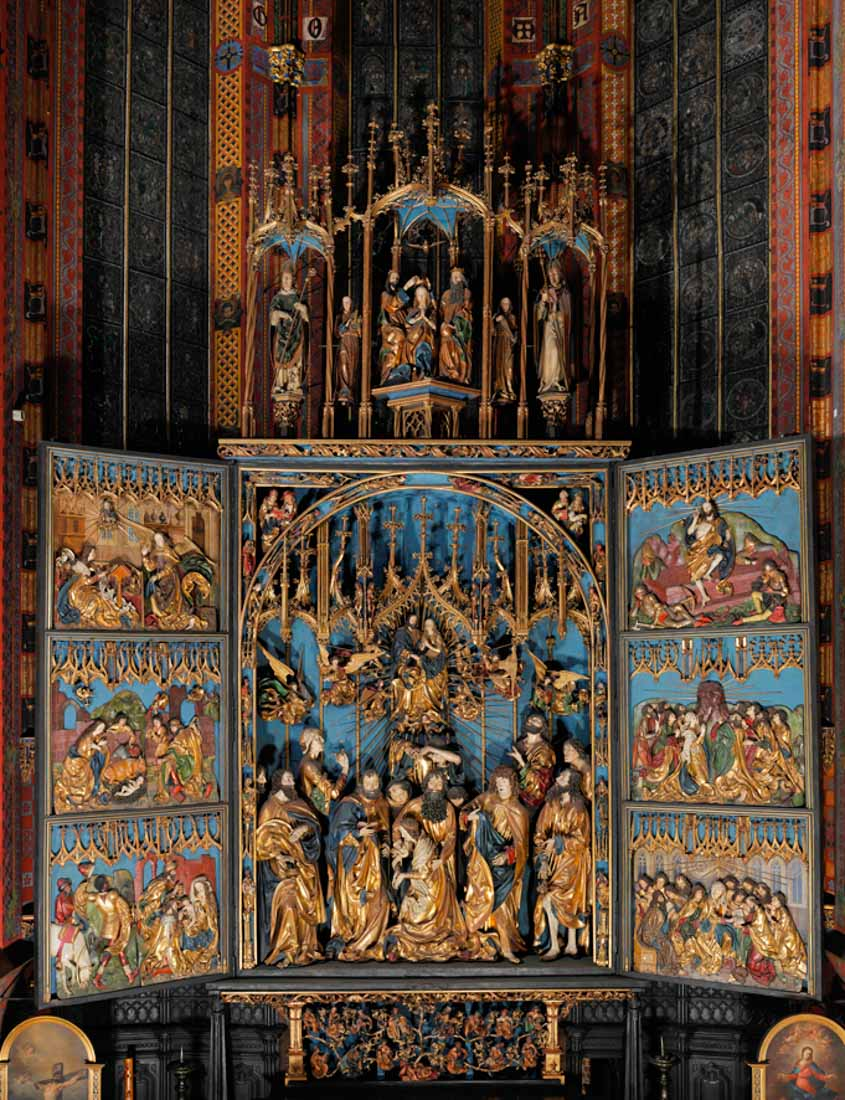 Konserwacja Ołtarza Wita Stwosza w Bazylice Mariackiej w Krakowie